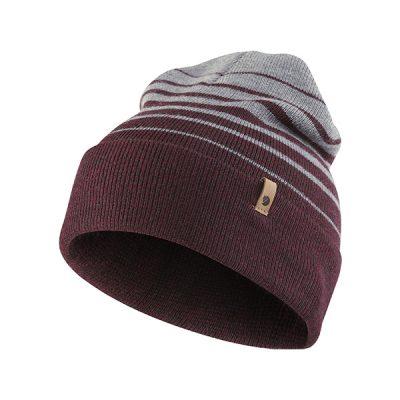 kepure fjallraven classic striped knit hat dark garnet 1
