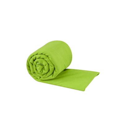 kelioninis ranksluostis sea to summit pocket towel large lime