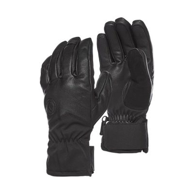 odinės pirštinės black diamond tour gloves black