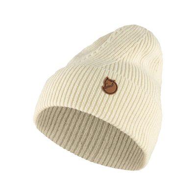 fjallraven ziemine kepure directional rib knit hat white