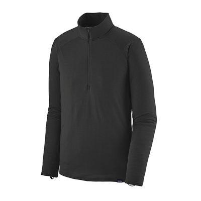 termo marškinėliai patagonia cap thermal weight zip neck blk