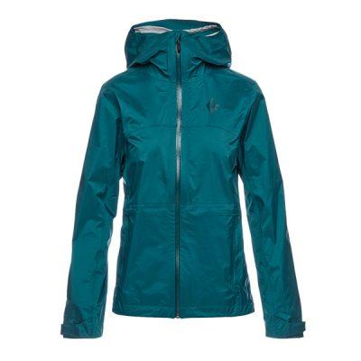 membranine striuke black diamond treeline shell jacket womens sea pine