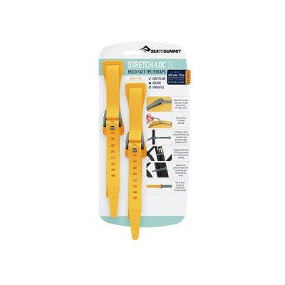tvirtinimo dirzeliai sea to summit stretch loc tpu straps 625mm yellow